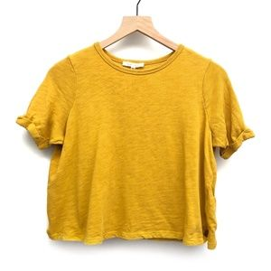Anthro Pure + Good Yellow Crop Top - Size XSP